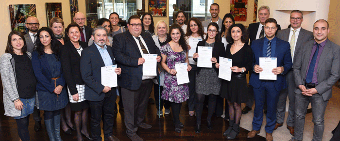 """Zertifizierungsfeier der Qualifizierungsmaßnahme """"Interkulturelle Kompetenz und interkulturelle Koordination in der Schule"""""""