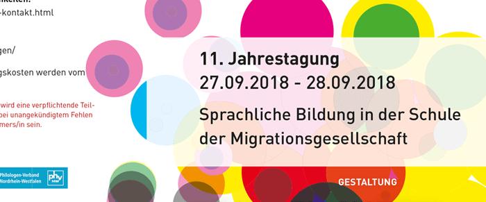 Jahrestagung 2018: Sprachliche Bildung in der Schule der Migrationsgesellschaft
